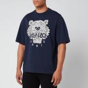 KENZO Men's Stitched Tiger T-Shirt - Navy Blue