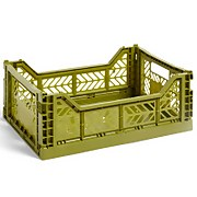 HAY Colour Crate - Olive - M