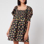 RIXO Women's Brenda Mini Dress - Garden Ditsy Black