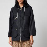 Barbour X Alexa Chung Women's Violet Mix Hooded Jacket - Navy/Red Navy Tartan