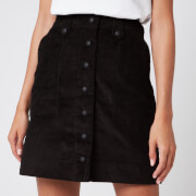 Maison Kitsuné Women's Alma Buttoned Skirt - Black
