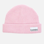Ganni Women's Recycled Wool Knit Beanie - Sweet Lilac