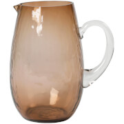 Broste Copenhagen Hammered Glass Jug - Natural