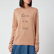 Bella Freud Women's Love is the Dog Jumper - Biscuit