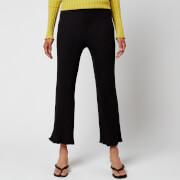 Simon Miller Women's Adler Wide Crop Pants - Black