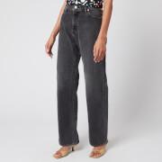 Simon Miller Women's High Rise Wide Leg Jeans - Vintage Wash Black Wash
