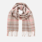 Barbour Casual Women's Barmack Houndstooth Tartan Scarf - Taupe/Pink Tartan