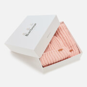 Barbour Casual Women's Saltburn Beanie & Scarf Set - Pink