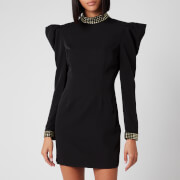 De La Vali Women's Baltimore Dress with Diamond Cuff & Collar - Black Solid