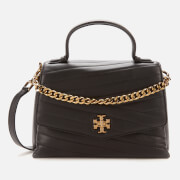Tory Burch Women's Kira Chevron Top-Handle Satchel - Black