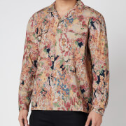 YMC Men's Rayon Cotton Floral Feathers Shirt - Multi