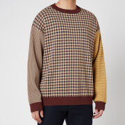 YMC Men's Rayon Nylon Knit Gordon Crewneck Jumper - Multi