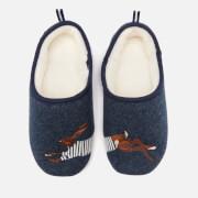 Joules Women's Slippet Felt Mule Applique Slippers - Navy Hare