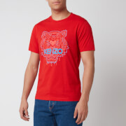KENZO Men's Bicolor Tiger Icon T-Shirt - Medium Red