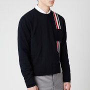Thom Browne Men's Intarsia Stripe Jumper - Navy