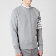Thom Browne Men's Engineered 4-Bar Stripe Loopback Sweatshirt - Light Grey
