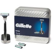 Geschenkset Gillette Mach3 mit Rasiererhalter