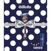 Gillette Fusion5 ProGlide Razor, Shaving Gel and Razor Stand Gift Set