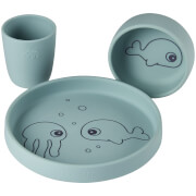 Done by Deer Silicone Dinner Set - Sea Friends - Blue
