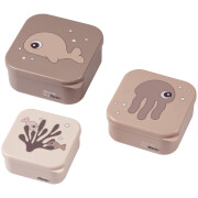 Done by Deer Snack Box Set of 3 - Sea Friends - Powder
