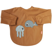 Done by Deer Sleeved Bib - Sea Friends - 6-18m - Mustard/Grey