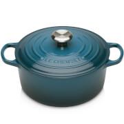 Le Creuset Signature Cast Iron Round Casserole Dish - 28cm - Deep Teal