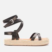 Isabel Marant Women's Melyz Leather Flatform Sandals - Black