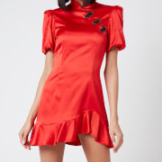 De La Vali Women's Bluebell Dress - Solid Red/Black Frogs