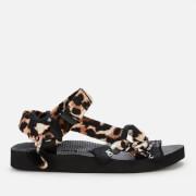 Arizona Love Women's Trekky Bandana Sandals - Leopard/Black