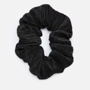 Ganni Women's Pleated Satin Scrunchie - Black