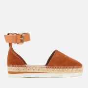 See By Chloé Women's Glyn Leather Espadrilles - Tan