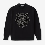 KENZO Women's Velvet Tigerhead Embroidered Crewneck Sweatshirt - Black