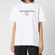 Alexander Wang Women's Short Sleeve Logo Graphic T-Shirt - White