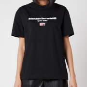 Alexander Wang Women's Short Sleeve Logo Graphic T-Shirt - Black