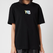 Alexander Wang Women's Short Sleeve T-Shirt with Ombre Puff Print - Black