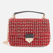 Michael Michael Kors Women's Soho Checkered Tweed Small Chain Shoulder Bag - Bright Red