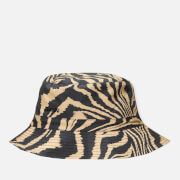 Ganni Women's Printed Cotton Poplin Bucket Hat - Tannin