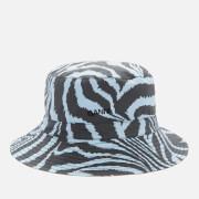 Ganni Women's Printed Cotton Poplin Bucket Hat - Forever Blue