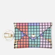 Ganni Women's Leather Key Chain/Envelope Cardholder - Multi
