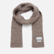 Ganni Women's Block Colour Knitted Recycled Wool Scarf - Multi