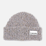 Ganni Women's Block Colour Knitted Recycled Wool Beanie - Multi