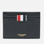 Thom Browne Men's Single Card Holder In Pebble Grain - Black