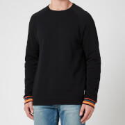 PS Paul Smith Men's Stripe Cuff Long Sleeve Top - Black