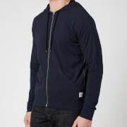 PS Paul Smith Men's Tape Zip Through Hooded Sweatshirt - Inky