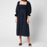 Sleeper Women's Atlanta Linen Dress - Navy