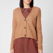 Ganni Women's Soft Wool Knit Cardigan - Tigers Eye