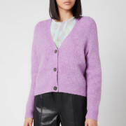 Ganni Women's Soft Wool Knit Cardigan - Pastel Lilac