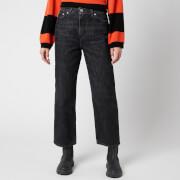 Ganni Women's Washed Denim Jeans - Phantom