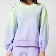 Olivia Rubin Women's Nettie Sweater with Crystal Buttons - Lilac Green Ombre