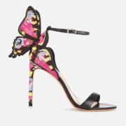 Sophia Webster Women's Chiara Embroidery Heeled Sandals - Black/Multi